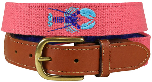 Bermuda Embroidered Belt - Lobster
