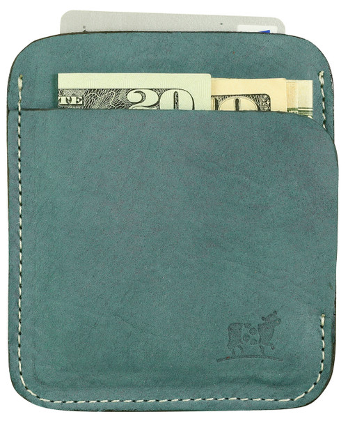 Portland Wallet in Steel Blue Nubuck Leather