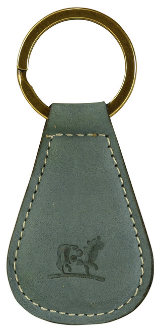 Belted Cow Padded Leather Key Fob
