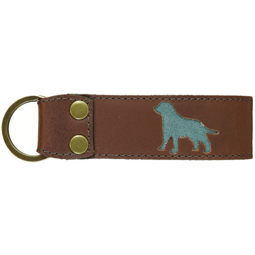 Belted Cow Acadia Leather Dog Key Fob