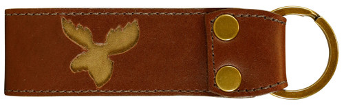 Belted Cow Acadia Leather Moose Key Fob