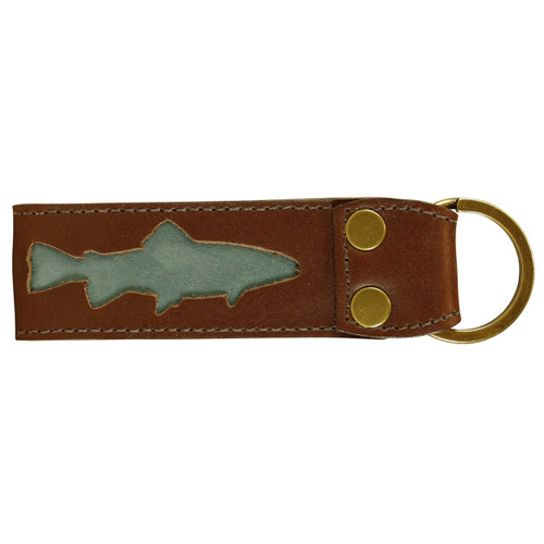 Belted Cow Acadia Leather Fish Key Fob