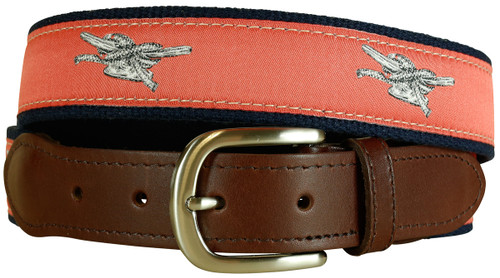 Cleat Leather Tab Belt