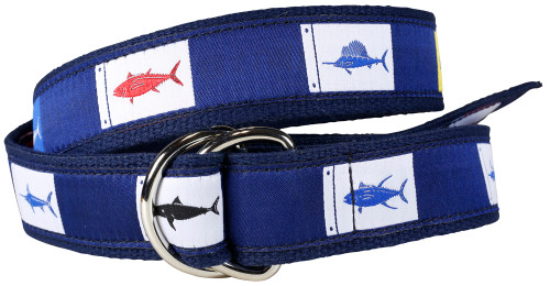 Fish Flags D-ring Belt
