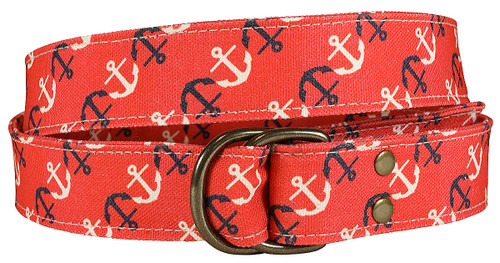 Canvas D-ring Belt - Anchor
