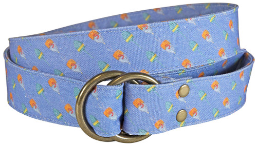 Buoy Printed Canvas O-Ring Belt