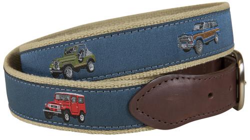 Vintage 4 by 4's Leather Tab Belt