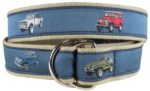 Vintage 4 x 4's D-ring Belt