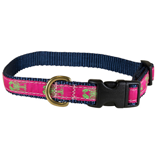 "Raspberry Lobster  5/8"" Dog Collar"