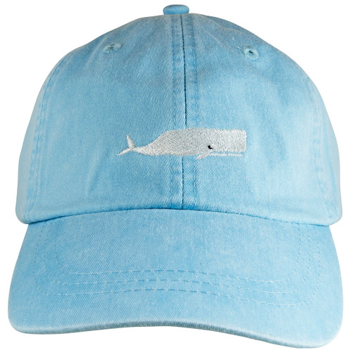 Whale Hat on Lt Blue