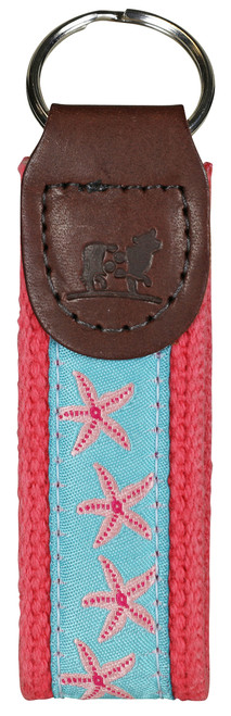 Starfish Key Fob - Aqua