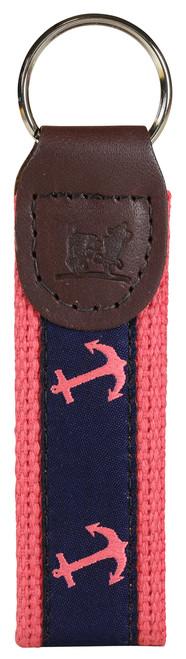 Anchor Key Fob | Navy & Pink