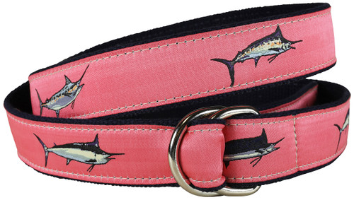 Bill Fish D-Ring Belt | Coral