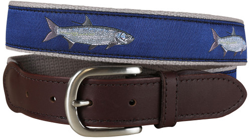 Tarpon Leather Tab Belt