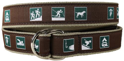 Parks & Rec Signs D-ring Belt