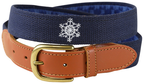 Embroidered Snowflake Belt