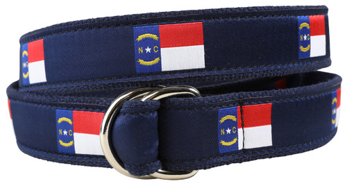 North Carolina State Flag D-ring Belt