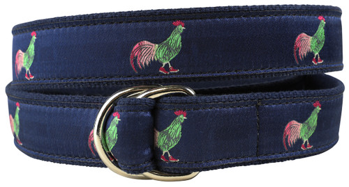 Rooster in Hi Tops D-Ring Belt
