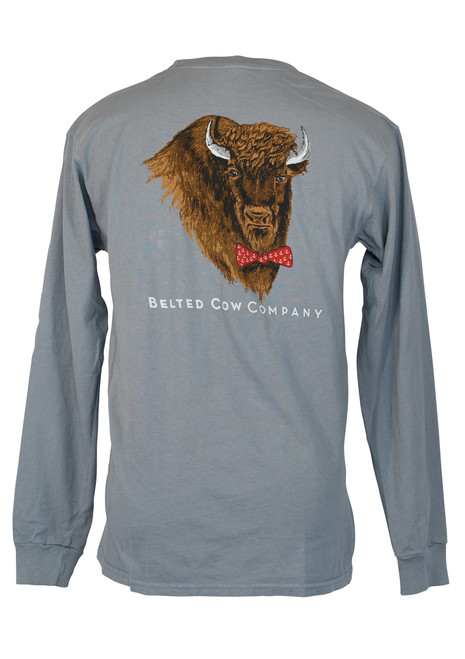 Buffalo Long Sleeve Pocket T-Shirt - Granite
