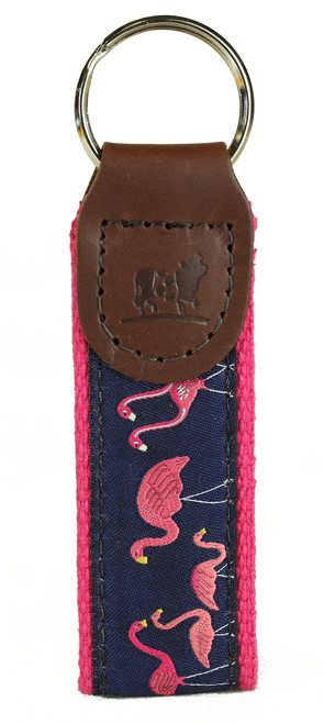 Pink Flamingos Key Fob