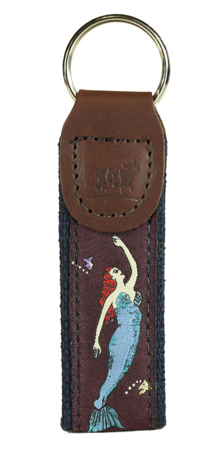 Vintage Mermaid Key Fob