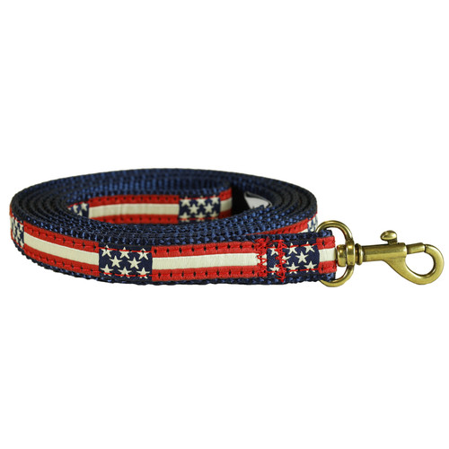 Retro Flag Dog Lead | 5/8 Inch