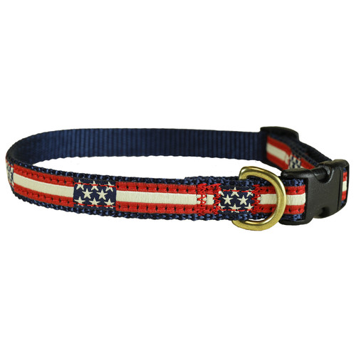 "Retro Flag 5/8"" Dog Collar"