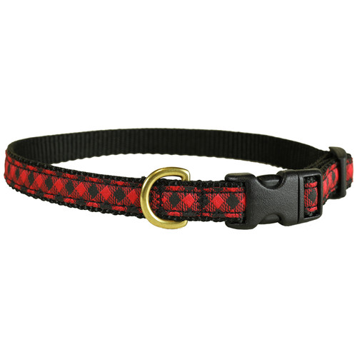 "Buffalo Plaid 5/8"" Dog Collar"