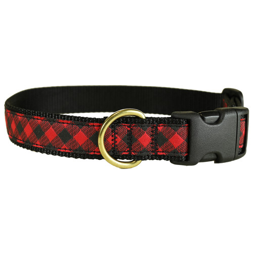 "Buffalo Plaid 1"" Dog Collar"