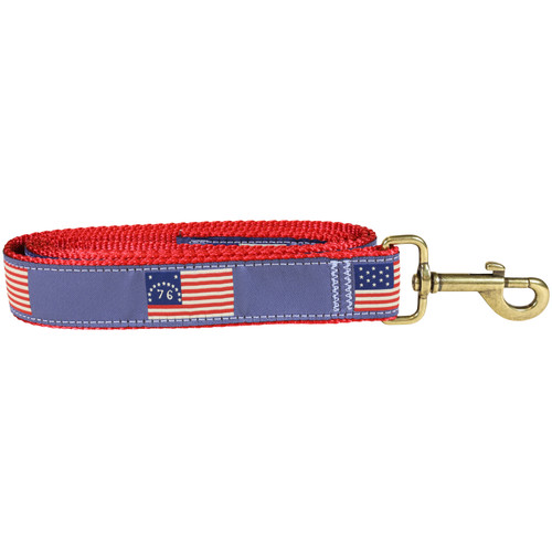 Historical American Flag Dog Lead - 1.25 Inch
