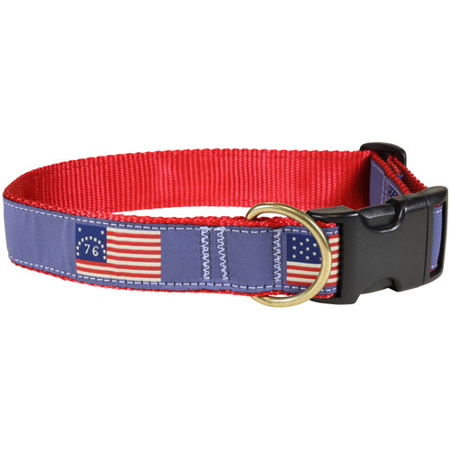 Historical American Flag Dog Collar - 1.25 Inch