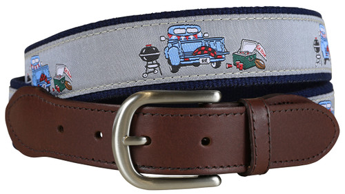 Game Day Leather Tab Belt