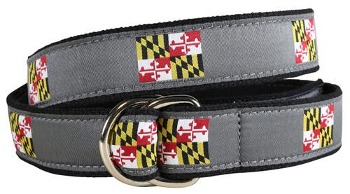 Maryland State Flag D-ring Belt