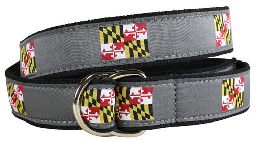 Maryland State Flag D-Ring Belt