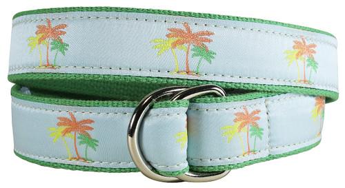 Palm Trees D-ring Belt