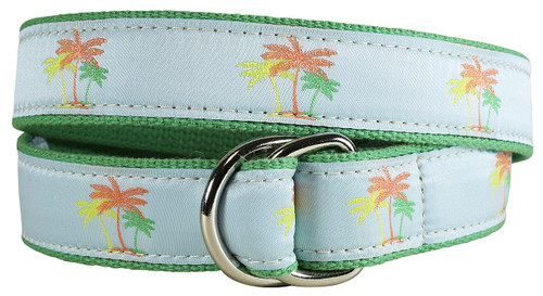 Palm Trees D-ring Belt