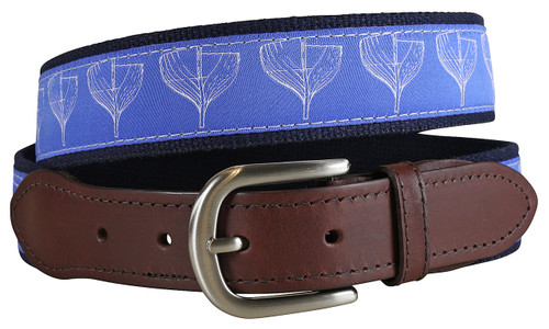 Boat Hull Leather Tab Belt