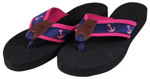 Anchors (pink) Flip Flops