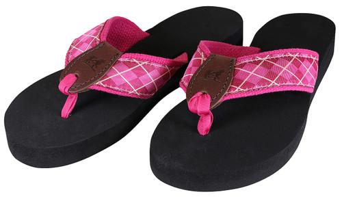 Wildberry Argyle Flip Flops