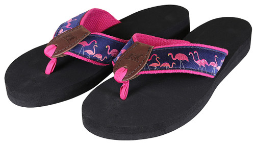 Yard Flamingos Flip Flops