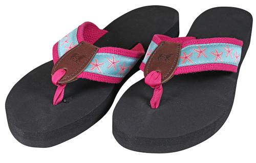 Starfish Flip Flops | Aqua