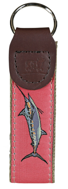 Bill Fish Key Fob - Coral