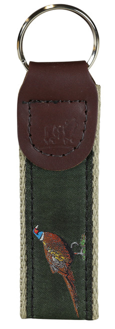 Woodland Birds Key Fob - Loden