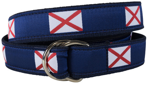 Alabama State Flag D-Ring Belt