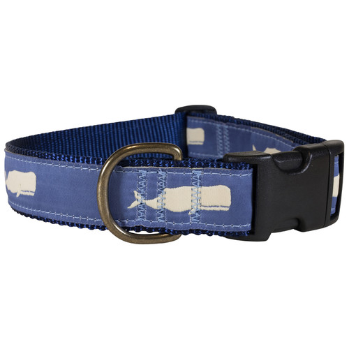 Moby Whale Dog Collar - Blue  - 1.25 Inch