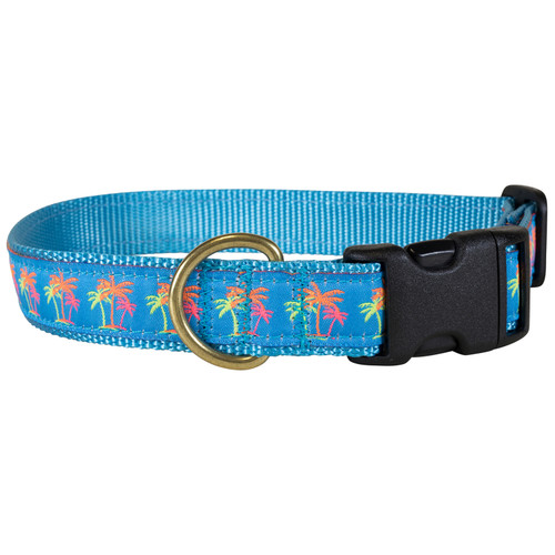 "Neon Palms 1"" Dog Collar"