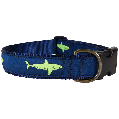 Shark Dog Collar - Lime  - 1.25 Inch