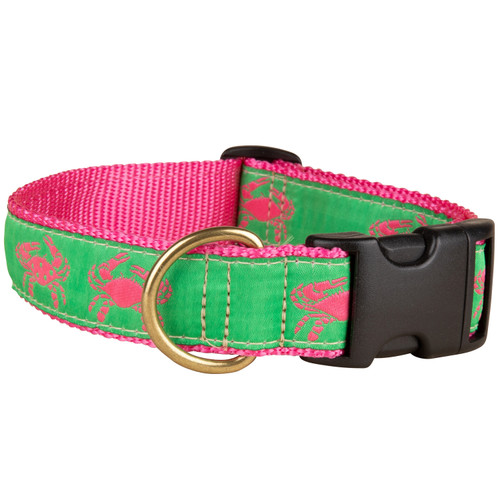 Crab Dog Collar | Pink | 1.25 Inch