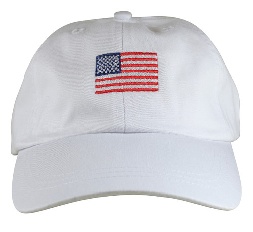 US Flag Hat - White