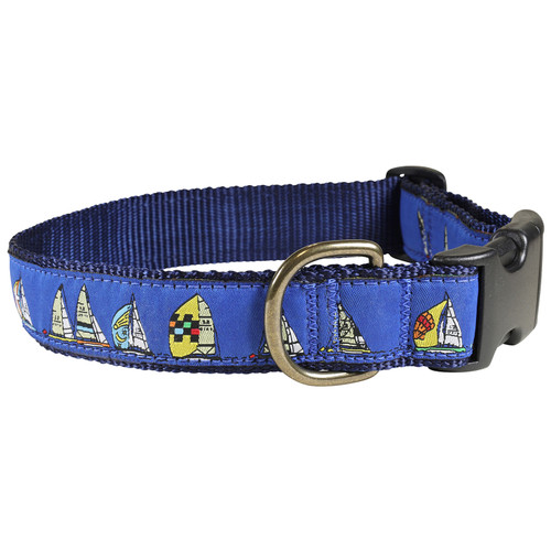 Rounding the Mark Dog Collar | Blue | 1.25 Inch